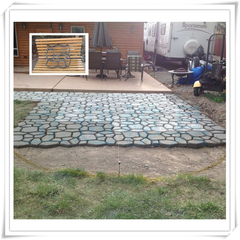Driveway WalkMaker Paving Patio Concrete Diy Pavement Molds Used For Making