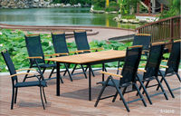 teak outdoor furniture Extension Table Sets outdoor rattan leisure furniture