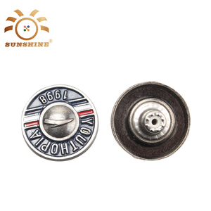 Unique design logo garment resin enamel alloy buttons