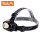 Ningbo Best 3W COB LED Hiking Adjustable Outdoor Headlamp With AAA Battery
