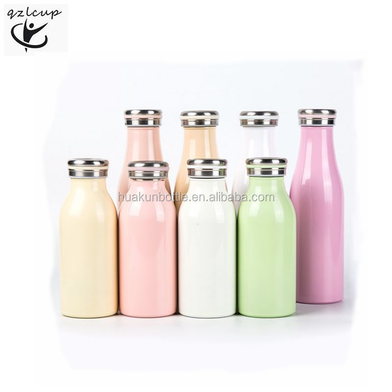 double wall stainless steel vacuum insulated milk bottle for kids bpa free, sport water bottle, Customized color