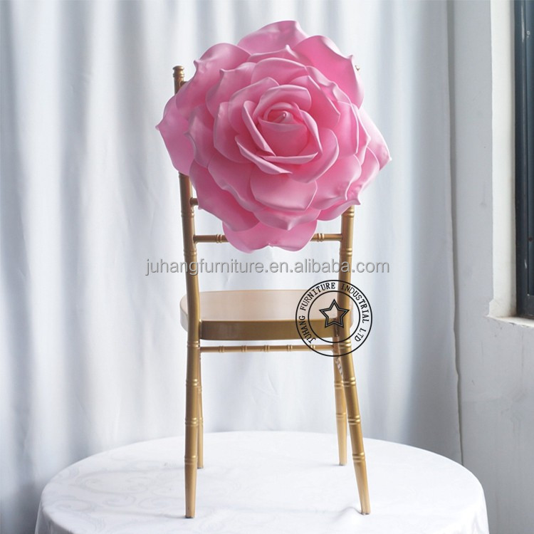2016Satin and polyester material wedding decoration chair covers latest