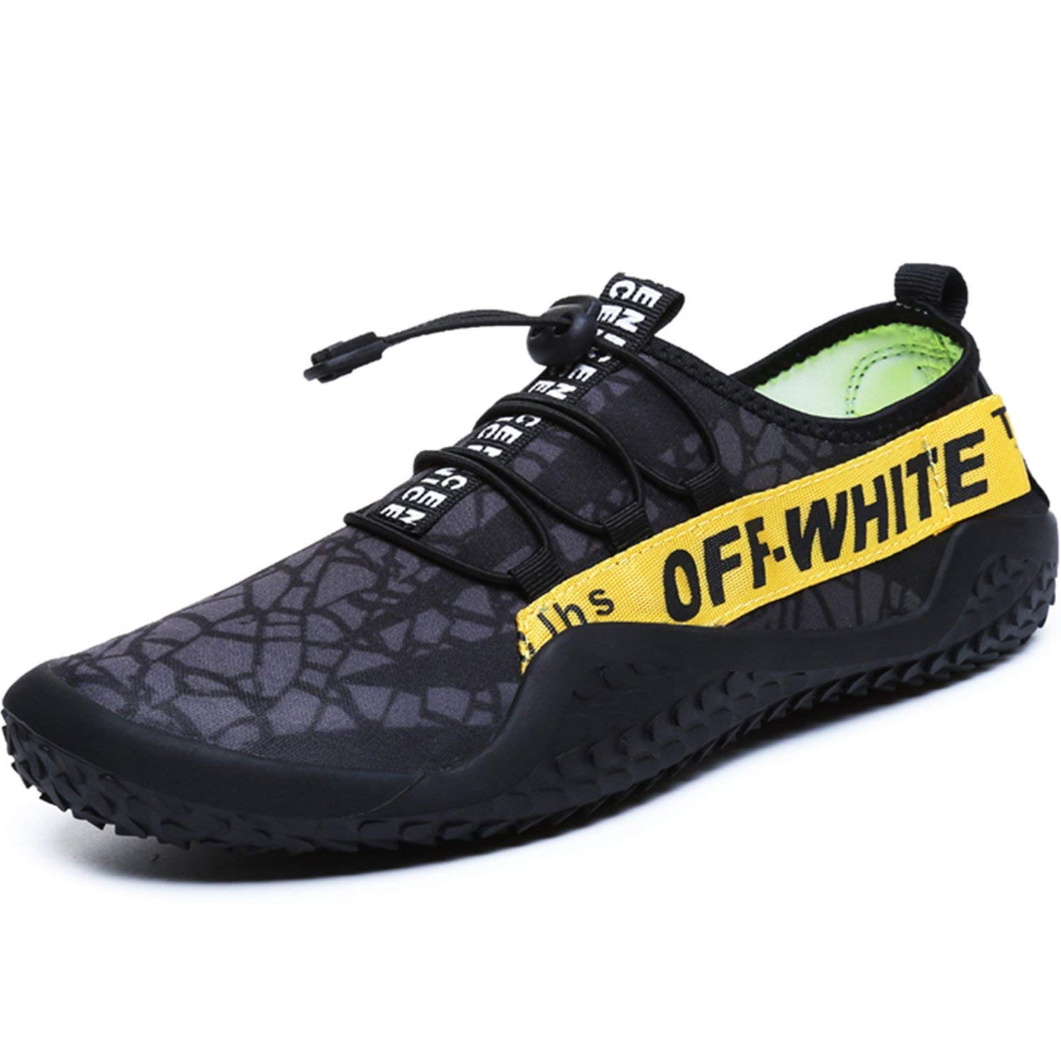76bd4620517bf0 Get Quotations · FEETICITY Mens Water Shoes Quick Dry Non-Slip Outdoor Water  Beach Swim Sneakers with Drainage