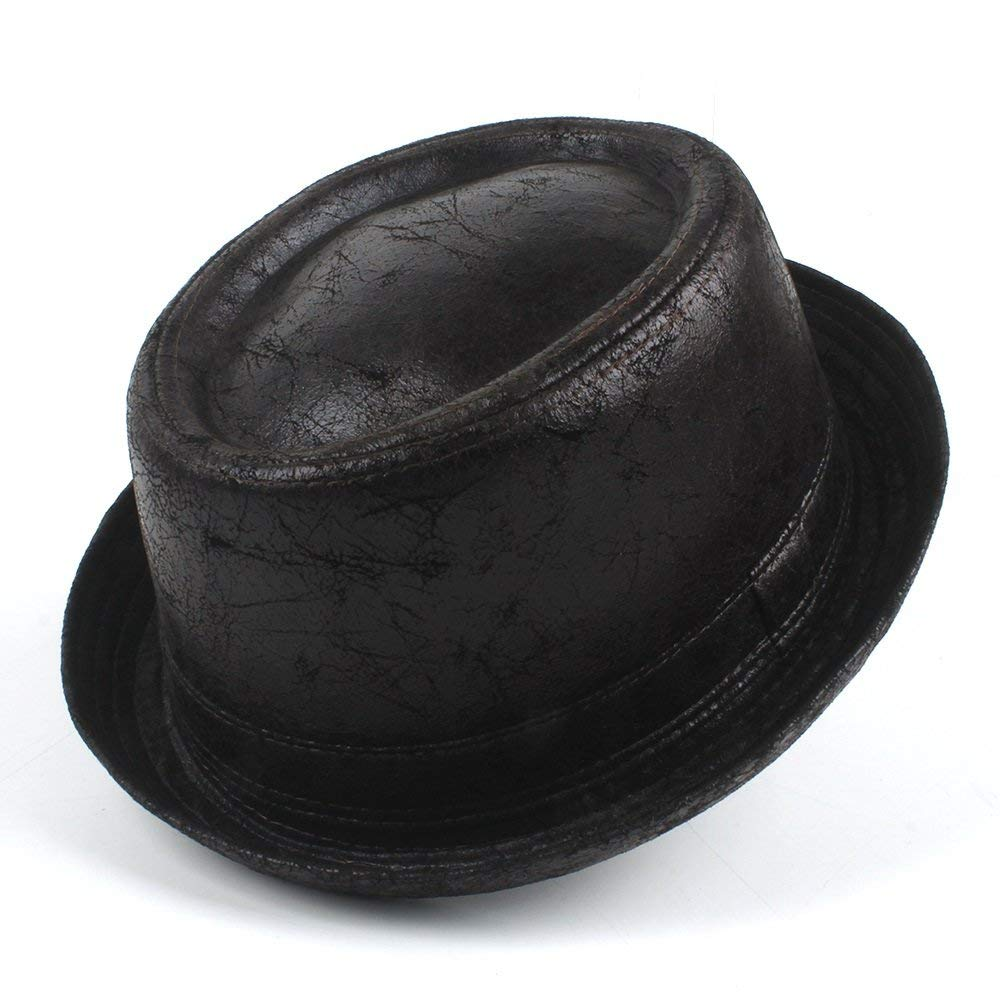 9d887c82fee Get Quotations · HHF Hats   Caps For Gentleman Bowler Gambler Top Hat Big  Size Dropshipping Vintage Leather pork
