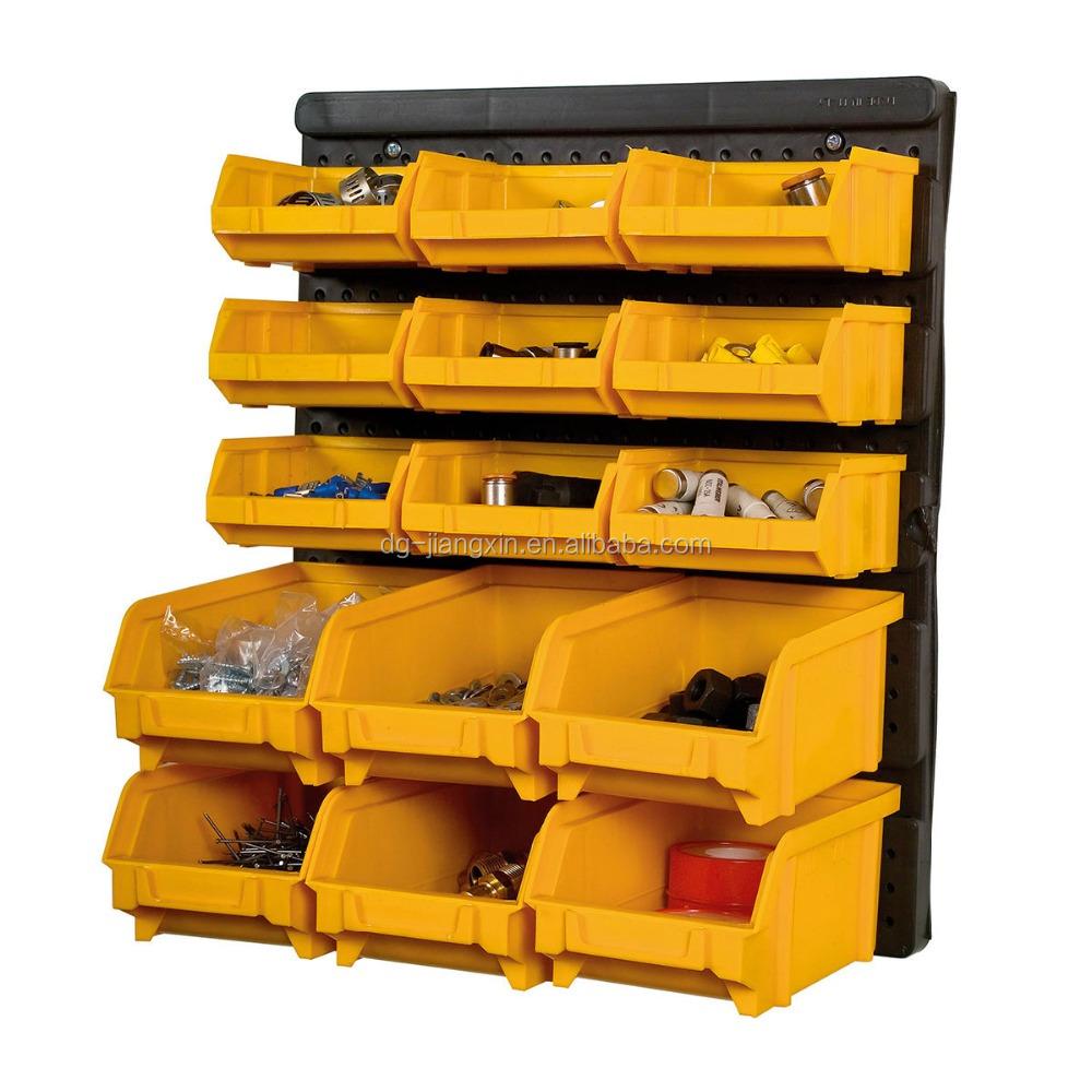 15 Pcs Tool Organizer Bin Wall Mount Plastic Storage Box   Buy Black Plastic  Louver Panel With 15pcs Part Bins,Wall Mount Parts Rack,Black Louver Panel  With ...