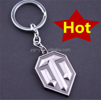 Online Game World Of Tanks Wot Metal Keychain Pendent For Men's Key Chain  Key Ring Gift - Buy World Of Tanks Spike Keychain,Online Game Wot Metal  Keychain,Pendent For Men's Keyrings Gift Product