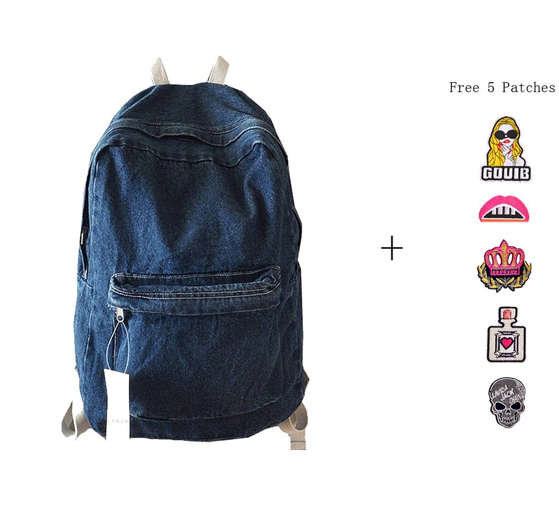 Get Quotations · College School Bags Backpacks Girls Denim Cute Bookbags  Student Backpack School Laptop Backpack Bag Pack Super faef03375c