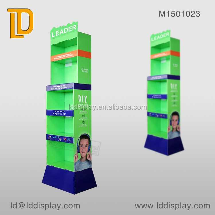 Market Paper Advertising Floor Standing Display for <strong>Retail</strong>