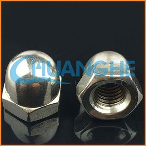 Alibaba China fastener a2 a4 stainless steel hex domed cap nut m8 m12 m20