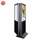 55 Inch Floor Standing double side LCD digital video display with wifi