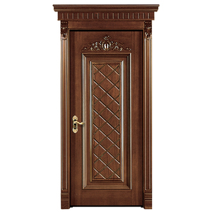 Prettywood European Style Main Room Covering Solid Wooden Door Design Pictures