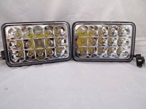 "H-A-Motorsports 111726495899 H4666 4""x6"" 165mm H4656 H4 LED Cree Conversion Chrome Headlights Replacement """