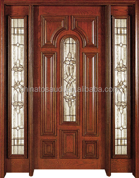 Factory custom new iron main entrance doors grill design for Decorative main door designs