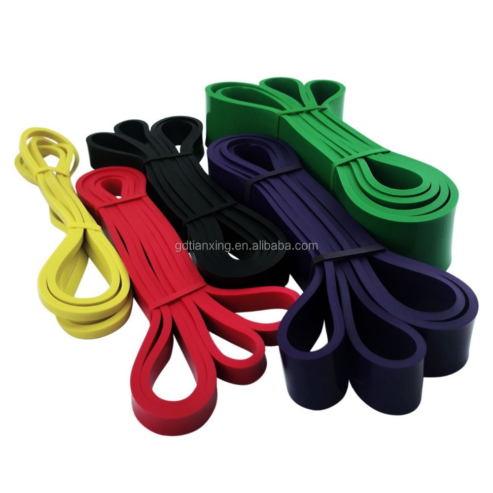 5 Packs Pull Up Assist Bands, High Elastic Rubber Latex Resistance Pull Up Straps