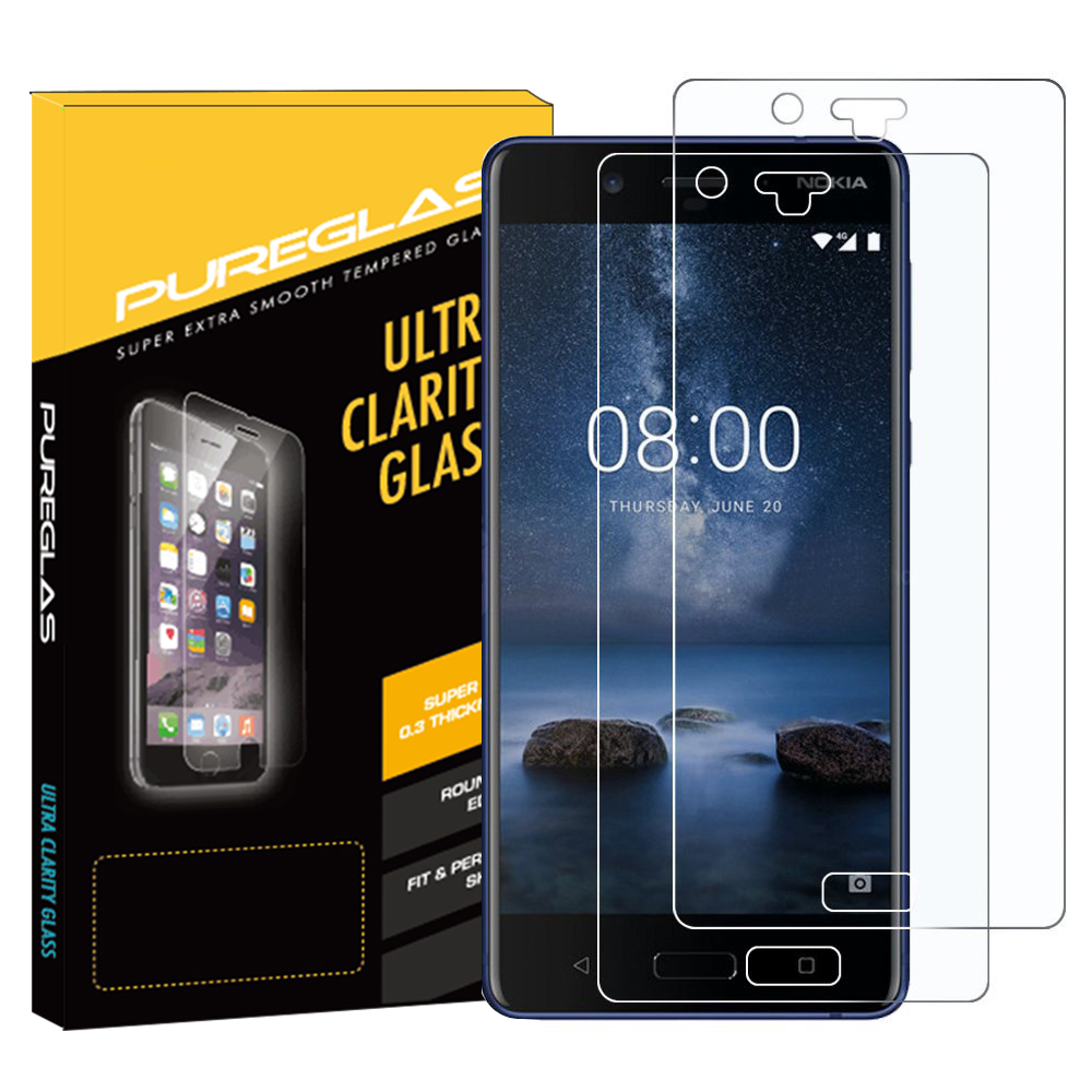 For Nokia 8 New premium OEM retail package asahi tempered glass screen protector
