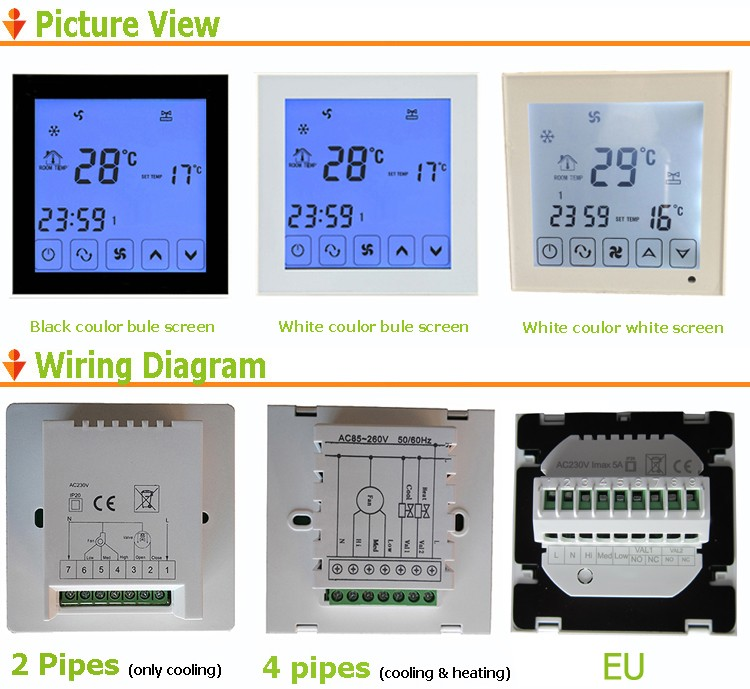 HVAC systems digital room FCU thermostat for fan coil units,air-conditioner thermostat