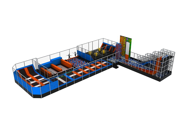 Multiple projects children amusement park safety professional large trampoline equipment