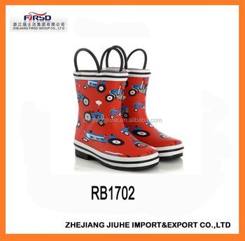 5dc4ad14d0b Botas de borracha das botas de chuva das crianças   menina   menino Wellies  com punho