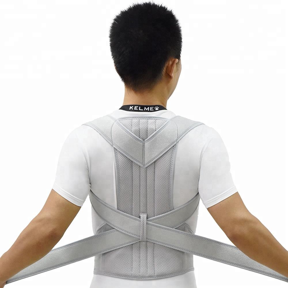 Gangsheng Back Posture Corrective Back Brace, Grey blace or customized