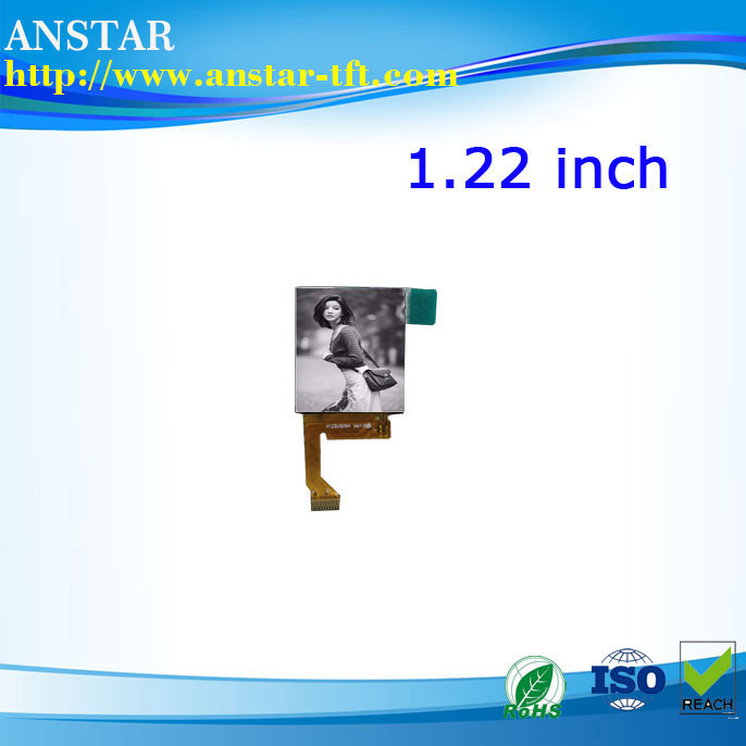 Micro lcd display 1.22 inch all sight viewing angle TFT panel with IC ST7789V