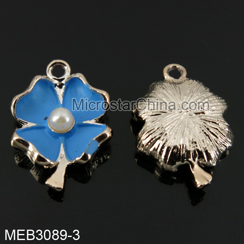 15*22mm have stock mix color leaf shape jewelry custom metal pendant