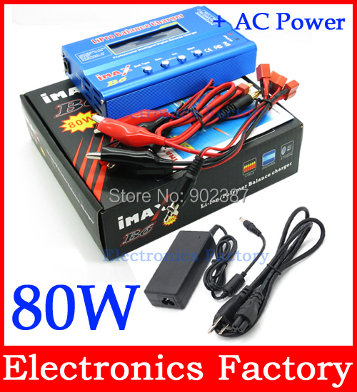Free Shipping And Tracking Lipo Battery Charger & Discharger IMAX B6 + 12V