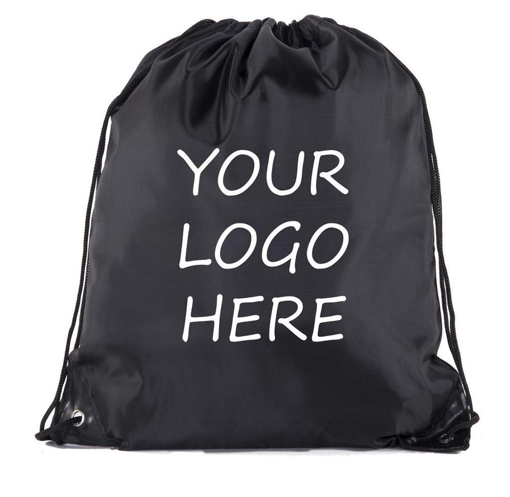 Storage Bags 500pcs Nylon Drawstring Bag School Sport Bag Gym Swim Dance Shoes Backpack Rope Backpack Custom Bags Shoulder Bag Logo Printing Latest Fashion