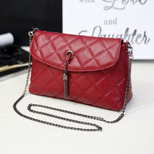 Yoyo Plaid Small Fringe Embroidery Clutches Women Crossbody Black Bag Quilted Flap Shoulder Bag Women Messenger