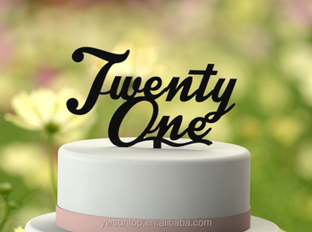 Twenty-One 21st Birthday Cake Topper Acrylic Cake Topper Wholesale