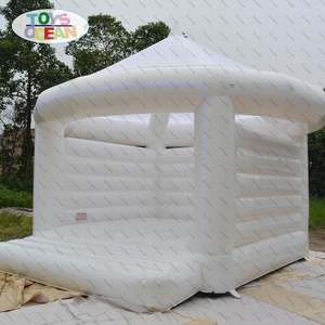 Customized inflatable white bouncer jumping castle for Wedding Party