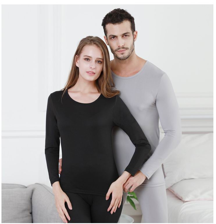2019 soft comfortable womens mens long johns thermal underwear set