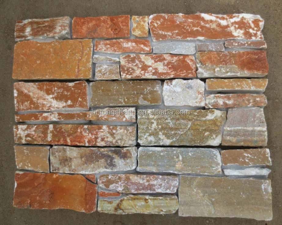 building materials,rock slate culture stone wall panels for New Zealand