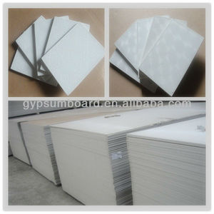 Waterproof PVC laminated gypsum board ceiling tile/pvc partition wall / pvc gypsum board producers