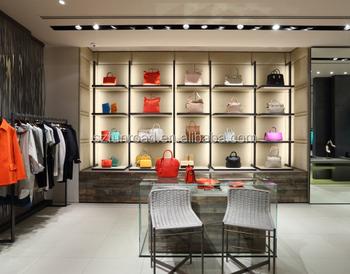 Wooden Bags Display Cabinet In Women Bag Design