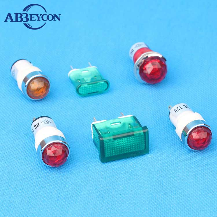 High brightness Ball head 10mm Dia amber terminal pilot lamp 24vdc electric indicator lamp oven indicator light