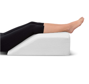 Leg Elevation Pillow - with Memory Foam Top, High-Density Leg Rest Elevating Foam Wedge - Relieves Leg Pain, Hip & Knee Pain