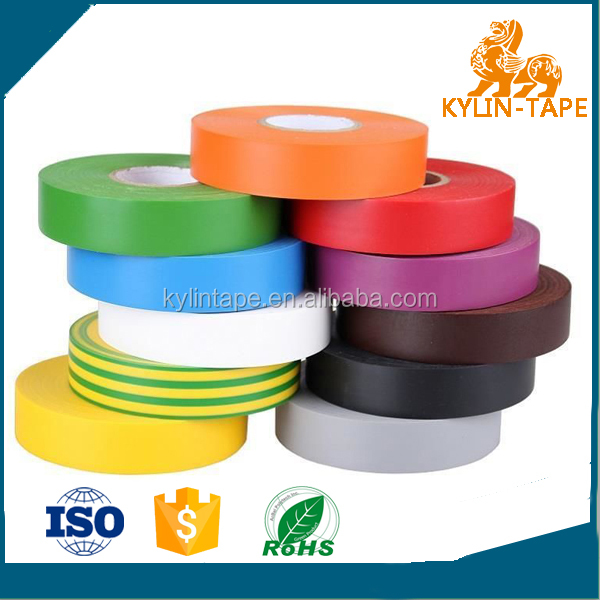 High strength Elastic pvc insulation electric tape for special section tube jumbo roll