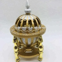 gold home arabic incense bakhoor resin incense burner