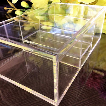 Modern Clear Box For Cosmetics Organize Your Make Up Perfume And Lotion Samples Acrylic Organizer Plastic Handmade