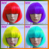 Wholesale Cheap Red Fluorescent Color Bob Synthetic Carnival Party Wigs, Cosplay Wigs, Halloween Wig