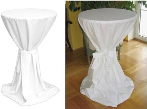 100 Polyester Jersey Stretch Bistro Table Cover With Belt Party
