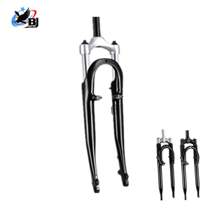 one piece aluminum double crown bicycle fork