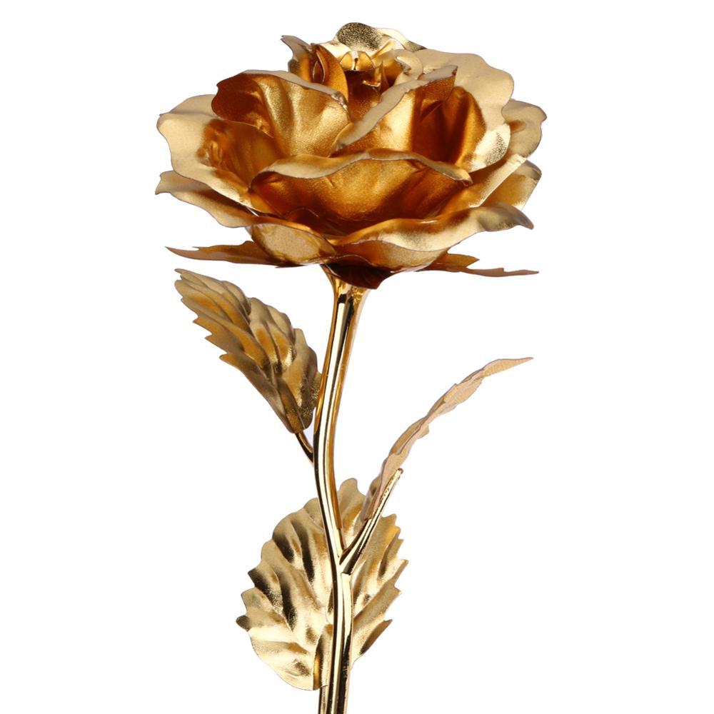 24k Gold Foil Rose Artificial Rose Wedding Souvenirs And Return ...