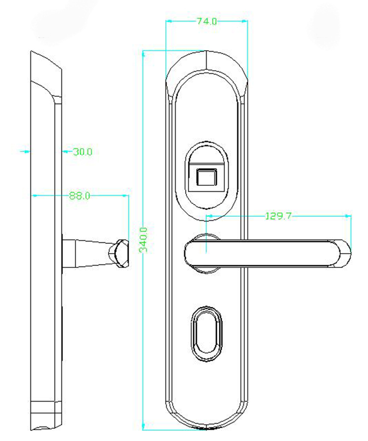 European Style Touch Screen Smart Biometric Home