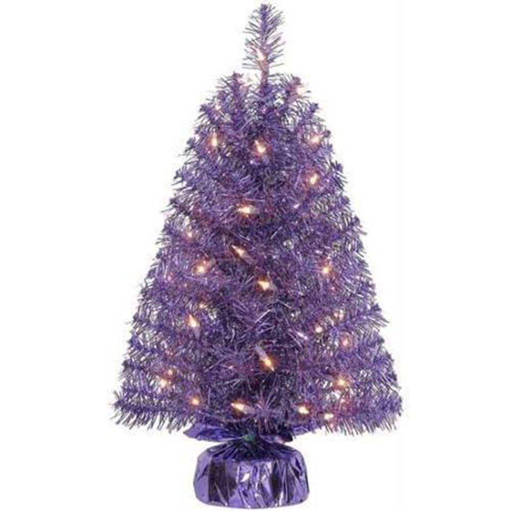 get quotations holiday time xmas pre lit 2 noble fir artificial trees clear lights - Cheap Christmas Tree Stands