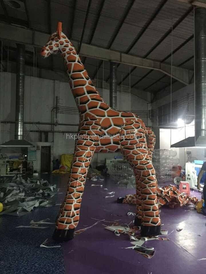 Giant Custom Inflatable Giraffe Animal Model For Promotion