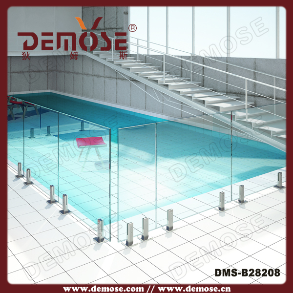 Fancy removable pool fence glass balustrade in balustrades - Removable swimming pool handrails ...