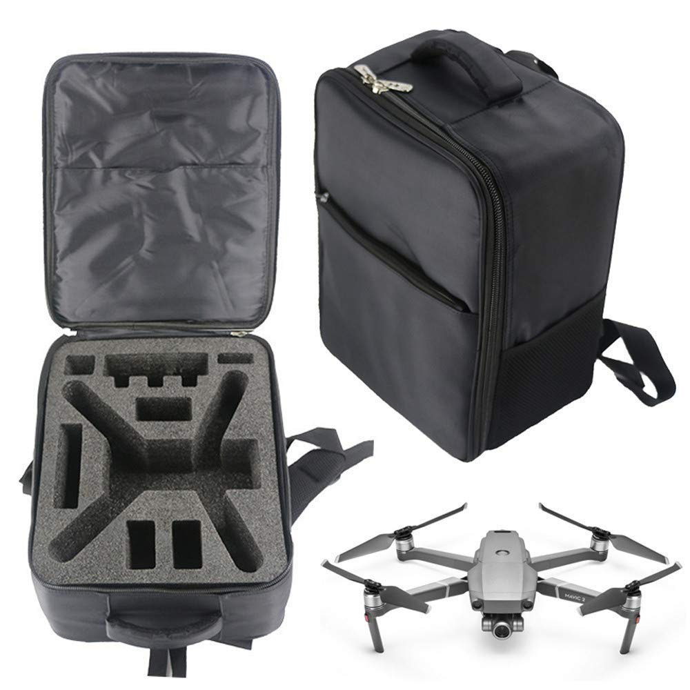 Gbell Shoulder Backpack Carry Waterproof Bag Case for DJI Mavic 2 Pro/Zoom Drone, Light Shockproof Large Capacity Case for Drone Body,Remote Controller, Battery,Charger and Other Accessories (Black)