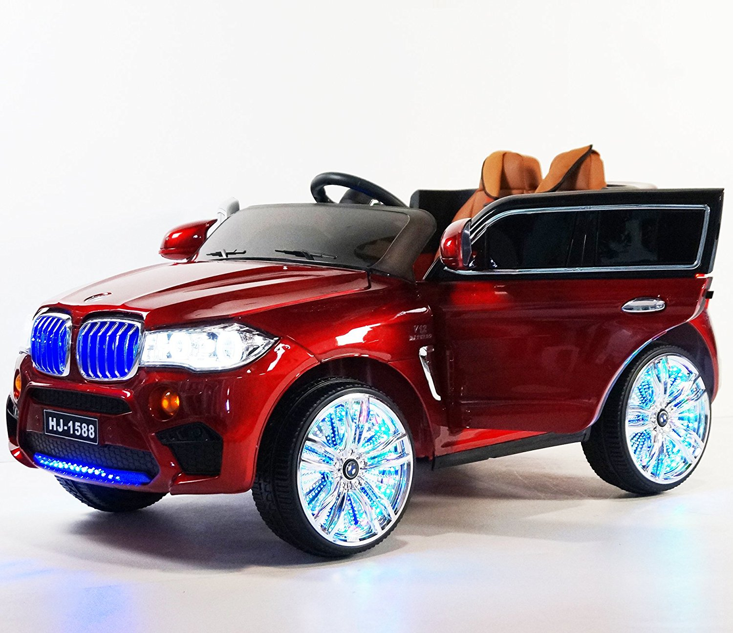 buy luxury edition bmw x5 suv style 12v, leather seat, lights, mp3