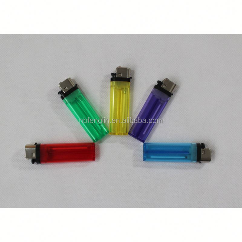 China factory cheap price FL-601 transparent color plastic disposable flint electronic lighter parts